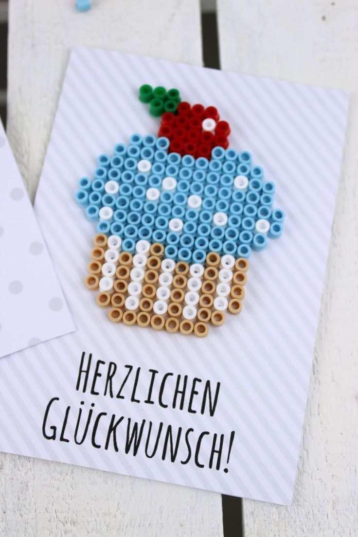 Diy Geburtstagkarten Aus Bugelperlen Selber Machen Geschenkidee Hama Bugelperlen Geschenkideen Eisenperlen