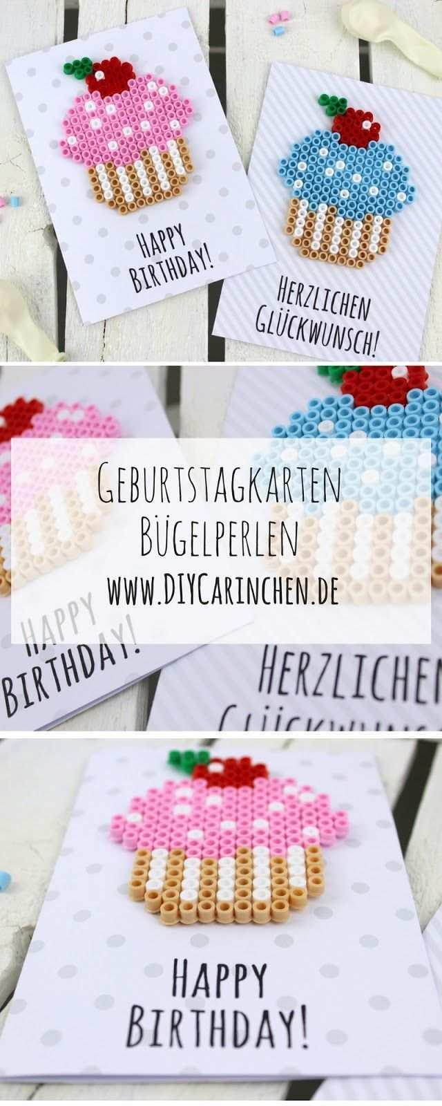 Diy Geburtstagkarten Aus Bugelperlen Selber Machen Geschenkidee Geburtstagskarten Selber Machen Geschenkideen Geschenke Selber Machen