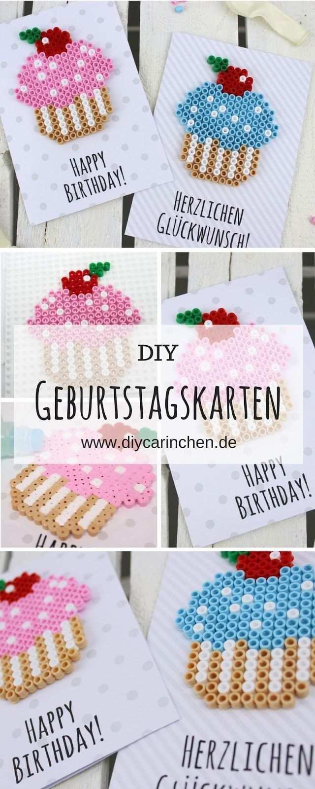 Diy Geburtstagkarten Aus Bugelperlen Selber Machen Geschenkidee Geburtstagskarten Selber Machen Geschenkideen Diy Geschenke Selber Machen