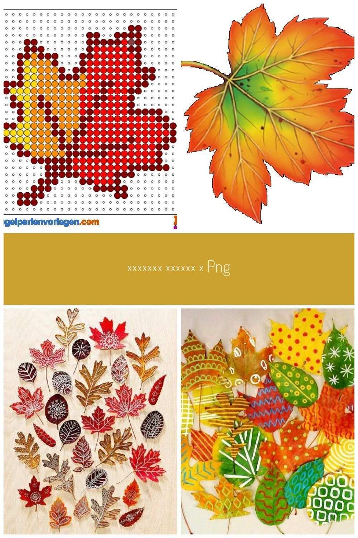 Herbst Blatt Bugelperlen Vorlage Fall Leaf Bugelperlen Vorlagen Herbst Blatter Bugelperlen