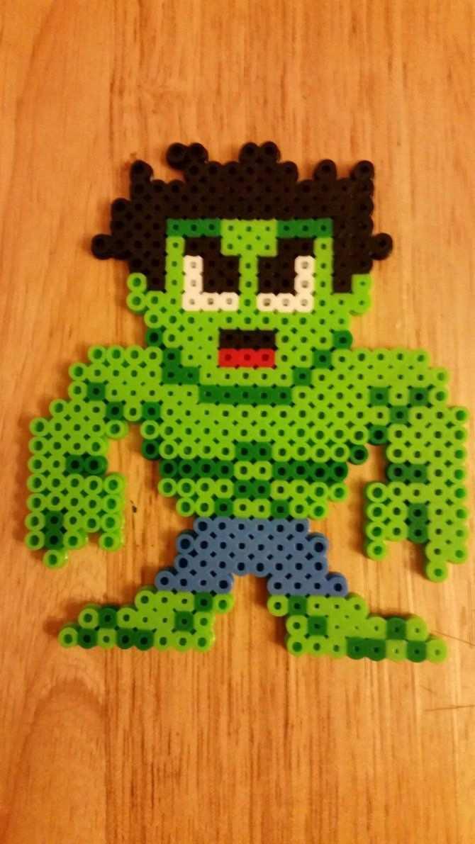 Incredible Hulk Perler Nerdy Perler Beads Perler Bead Art Perler Beads Designs