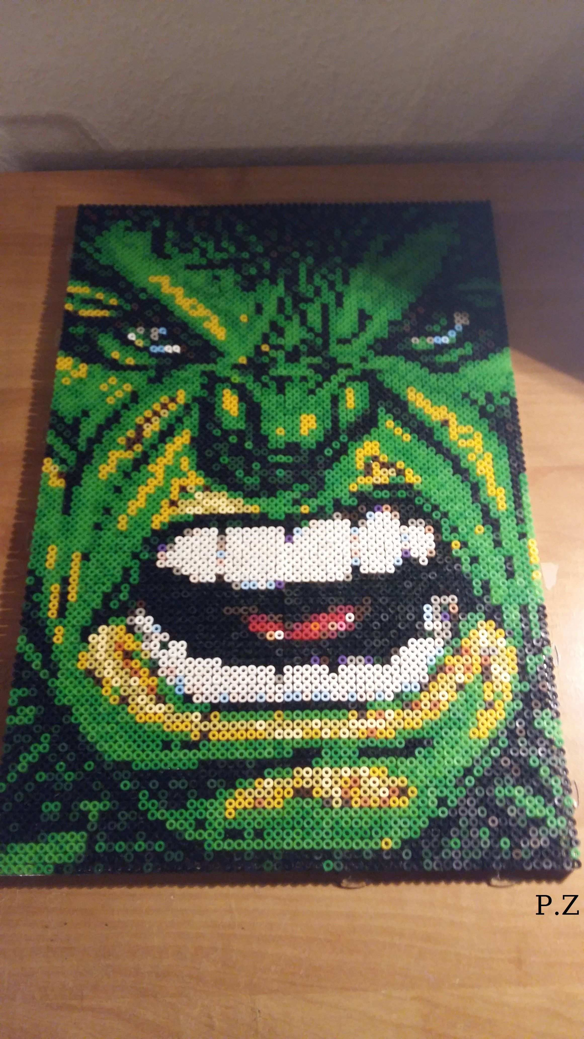 Hulk Photo Pearls Selbst Gesteckt Von Pia Bugelperlen Hama Bugelperlen Bugelperlenvorlagen