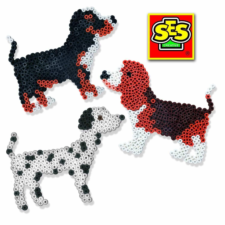 Ses Deutschland 00754 Bugelperlenset Hund Amazon De Spielzeug Hama Perlen Muster Bugelperlenvorlagen Bugelperlen