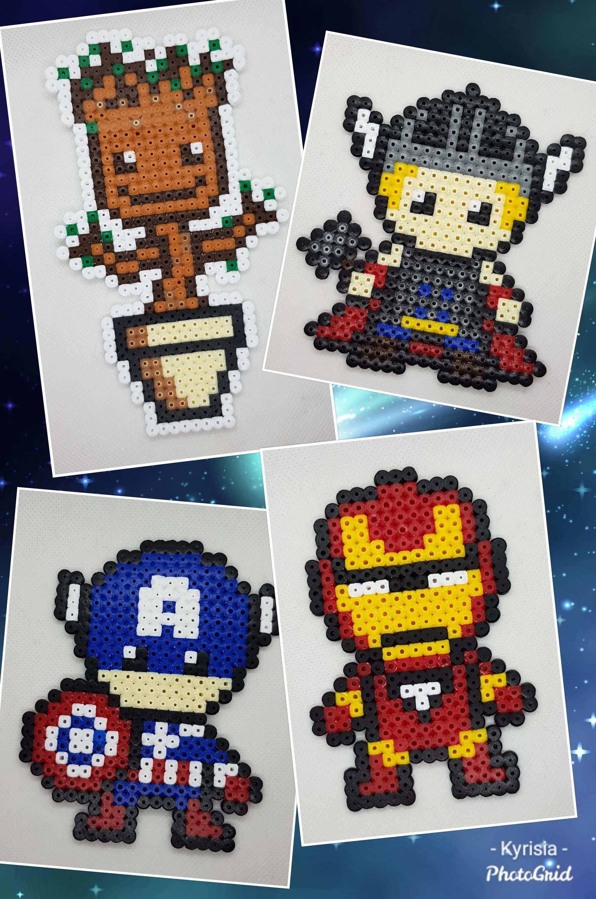 Avengers Bugelperlen Basteln Bugelperlen Bugelperlen Vorlagen