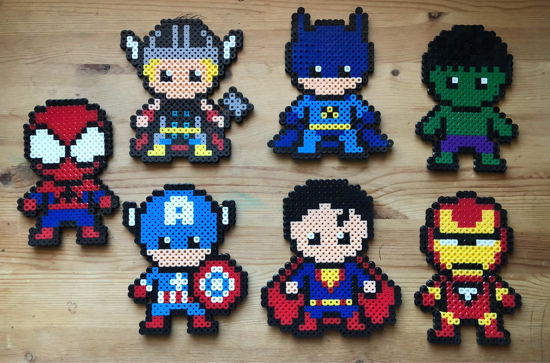 Superheroes Aktiviteter Perling Perlering