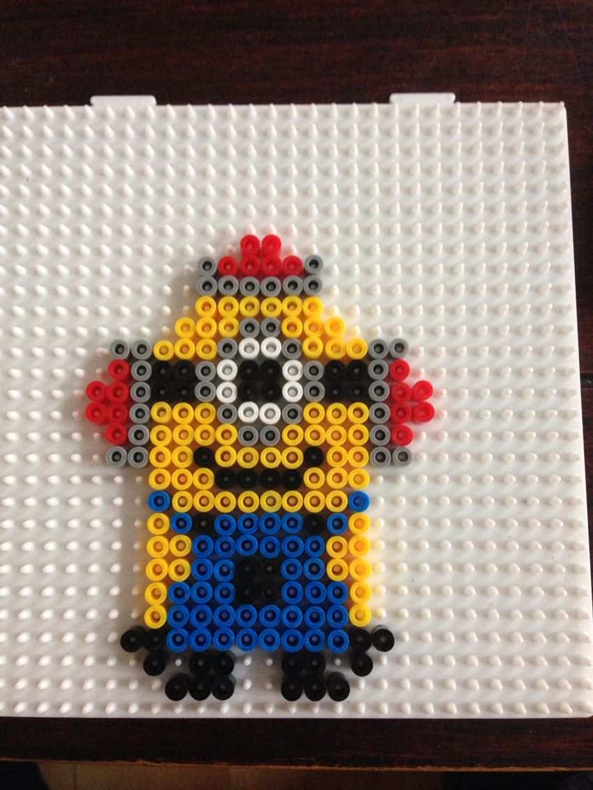 Minion Hama Perler Beads By Dorte Marker Nerdy Perler Beads Perler Beads Designs Hama Beads Patterns