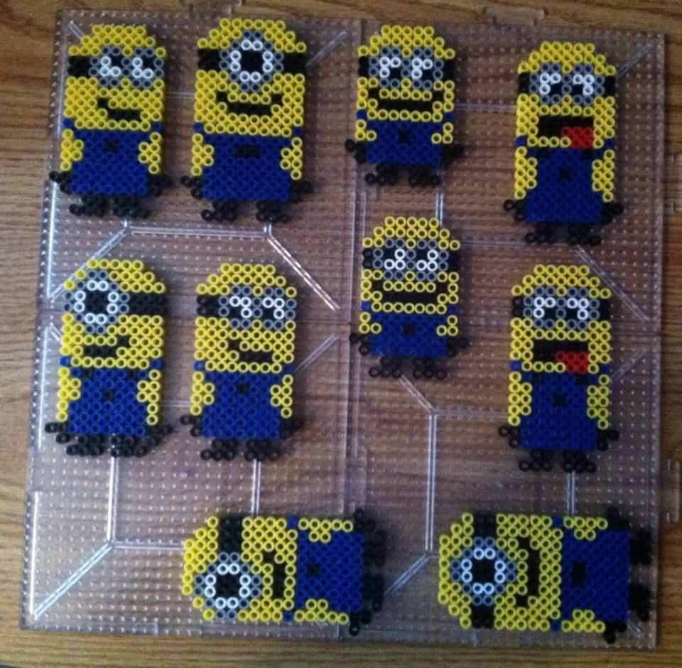 Minions Perler Beads Perler Bead Art Hama Beads Patterns Perler Bead Disney