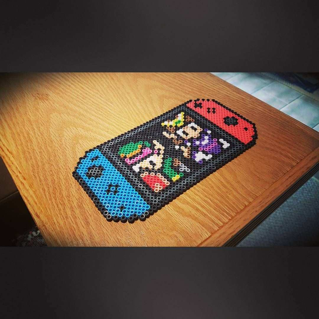 105 Likes 7 Comments Mr Witeout Mr Witeout On Instagram Nintendo Switch With Zelda Anyone T Hama Beads Patterns Diy Perler Beads Perler Bead Templates