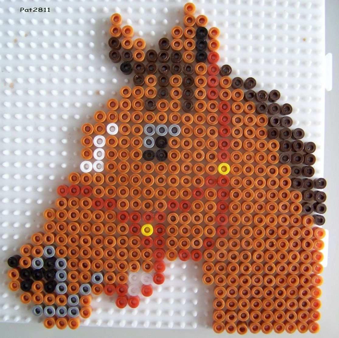 Pferd Bugelperlen Horse Hama Perler Beads Hama Beads Animales Cuentas De Hierro Abalorios Hama