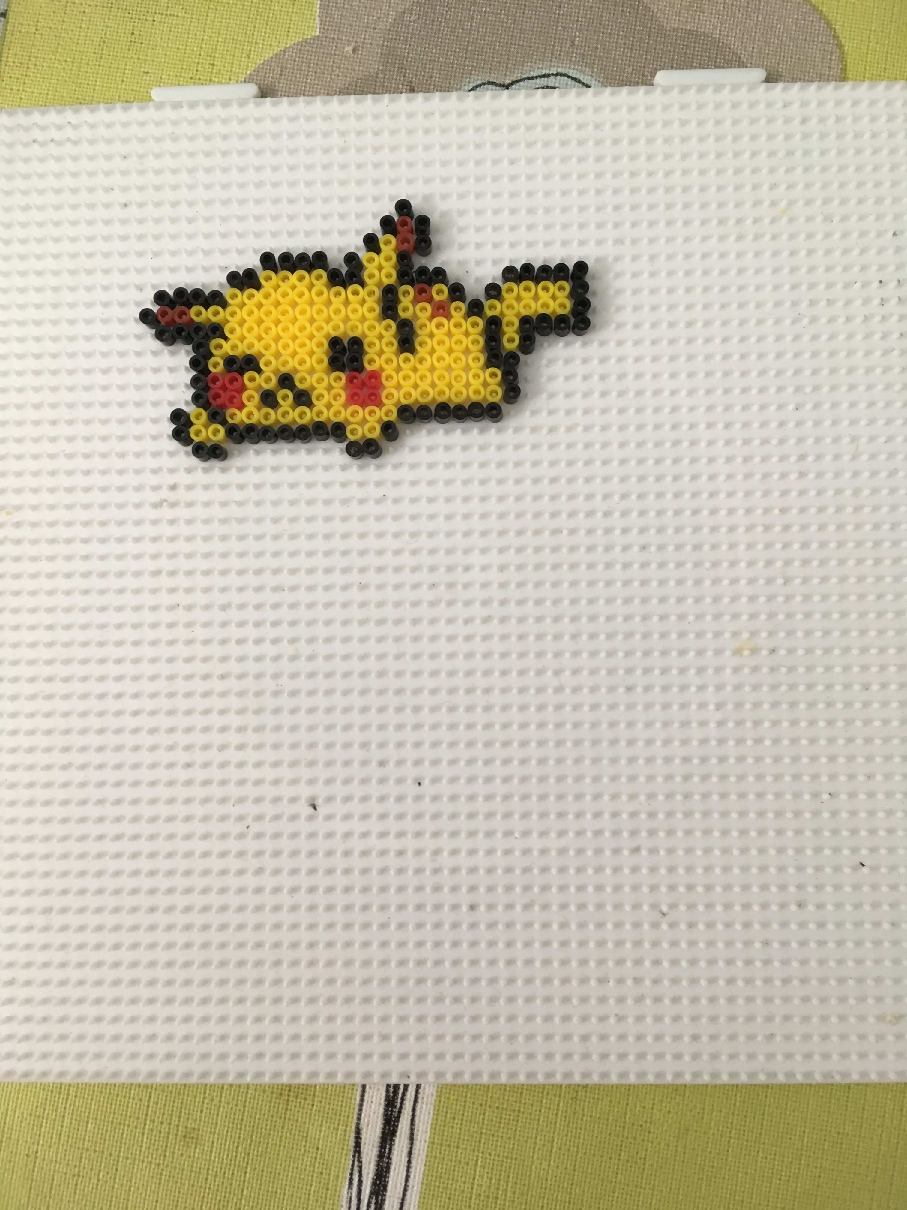 Little Pikachu Hama Perler By Lightning Pikachu Hama Beads Hama Beads Kawaii Pokemon Bead