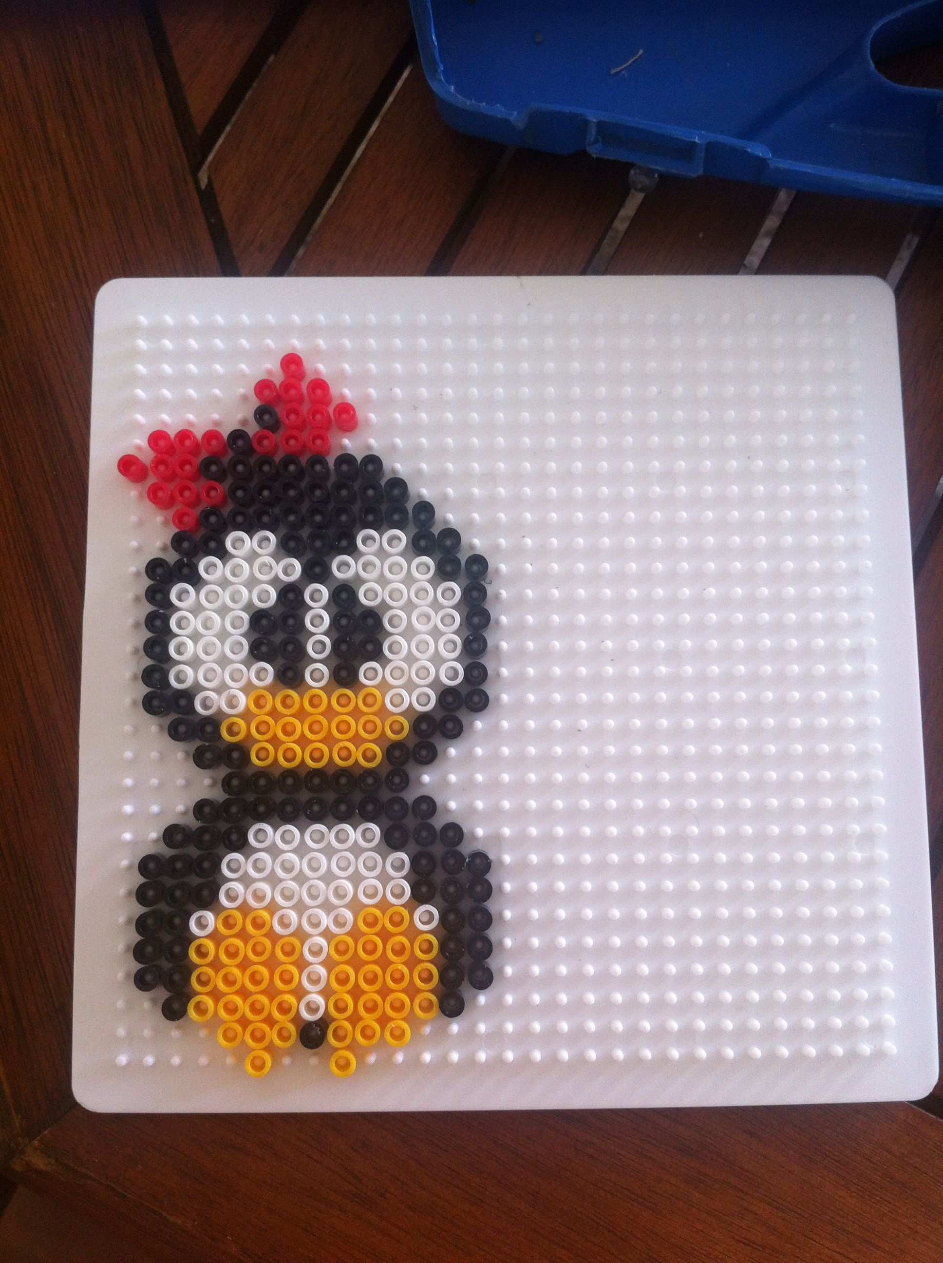 Little Miss Pinguin That I Have Made Hama Beads Bugelperlen Hama Bugelperlen Bugelperlenbilder