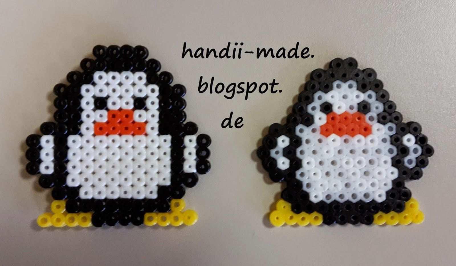 Handii Made Bugelperlen Pinguine Basteln Bugelperlen Bugelperlen Basteln Mit Kindern