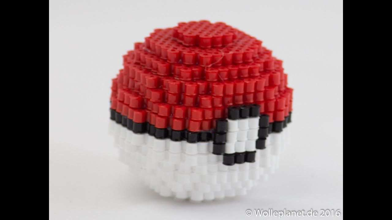 Perler Bead 3d Pokeball Bugelperlen Perlenkunst Bugelperlen Pokemon