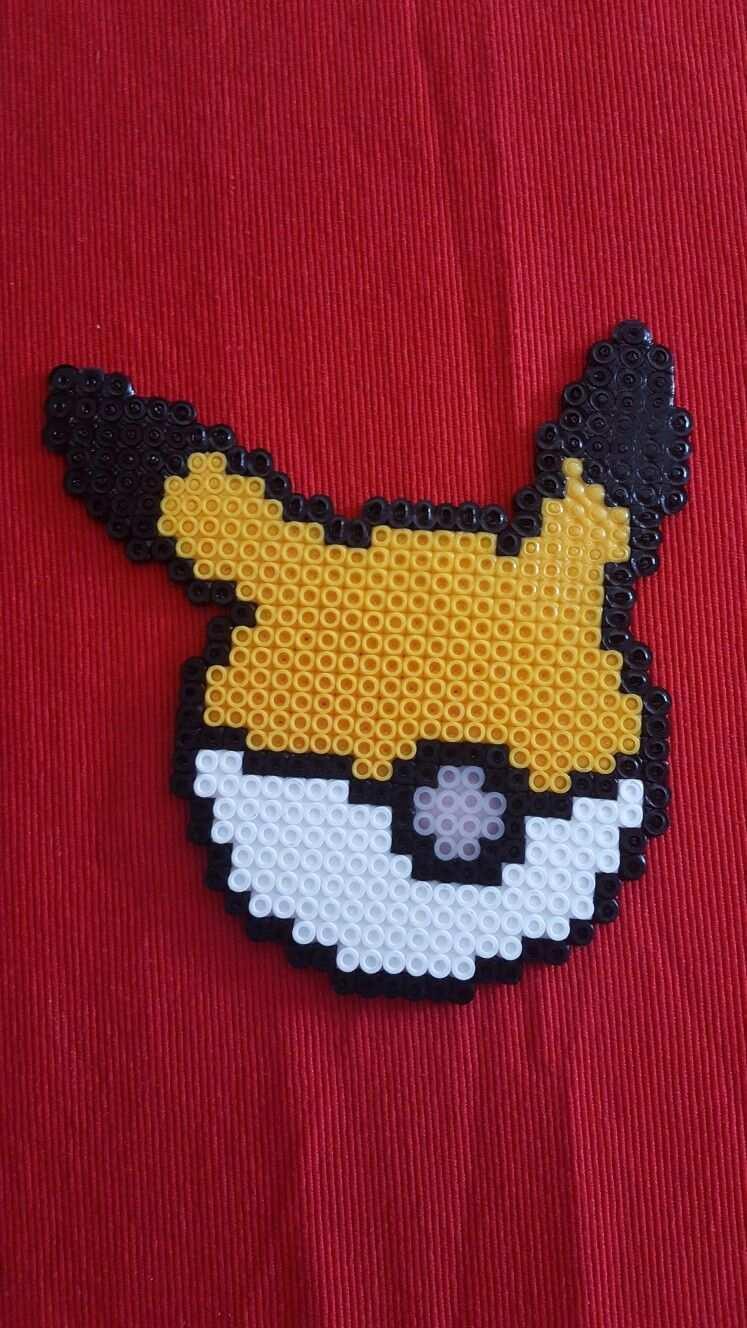 Pikachu Pokeball Nachtleuchtend Bugelperlen Perler Beads Glow In The Dark Perler Bead Patterns Perler Bead Disney Pokemon Cross Stitch