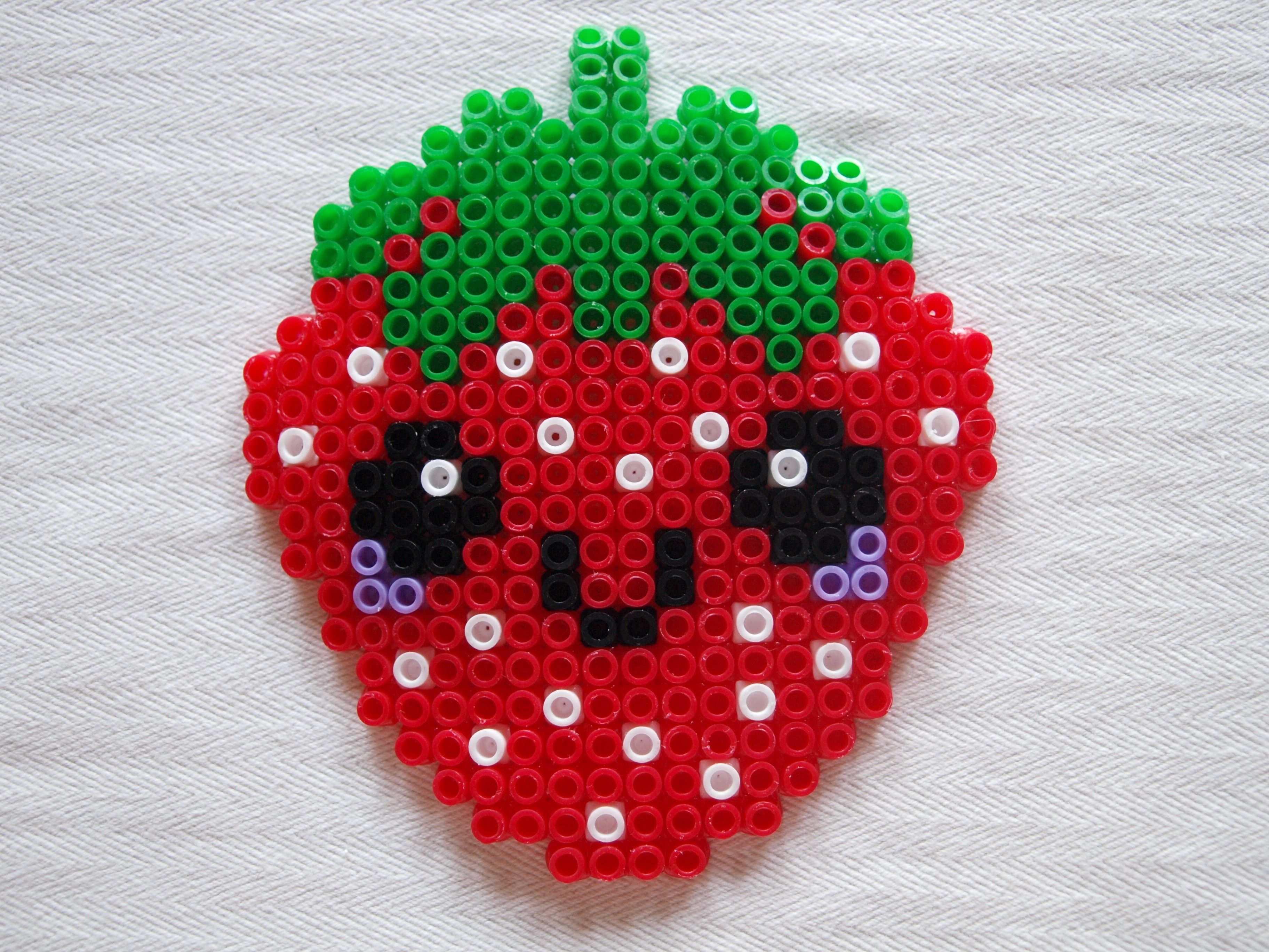 Bugelperlen Vorlage Erdbeere Basteln Bugelperlen Bugelperlen Bugelperlen Vorlagen