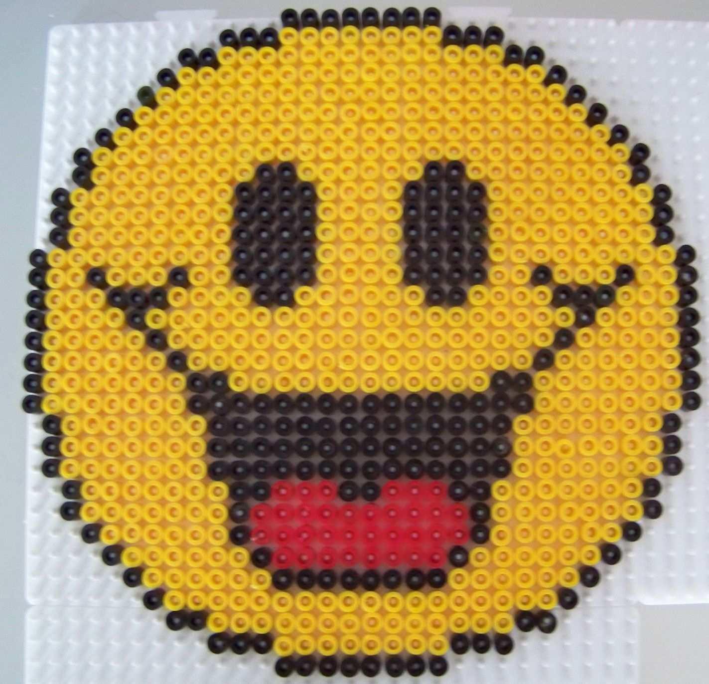 Smiley Rire En Perles Hama Perler Bead Art Perler Bead Patterns Hama Beads Patterns