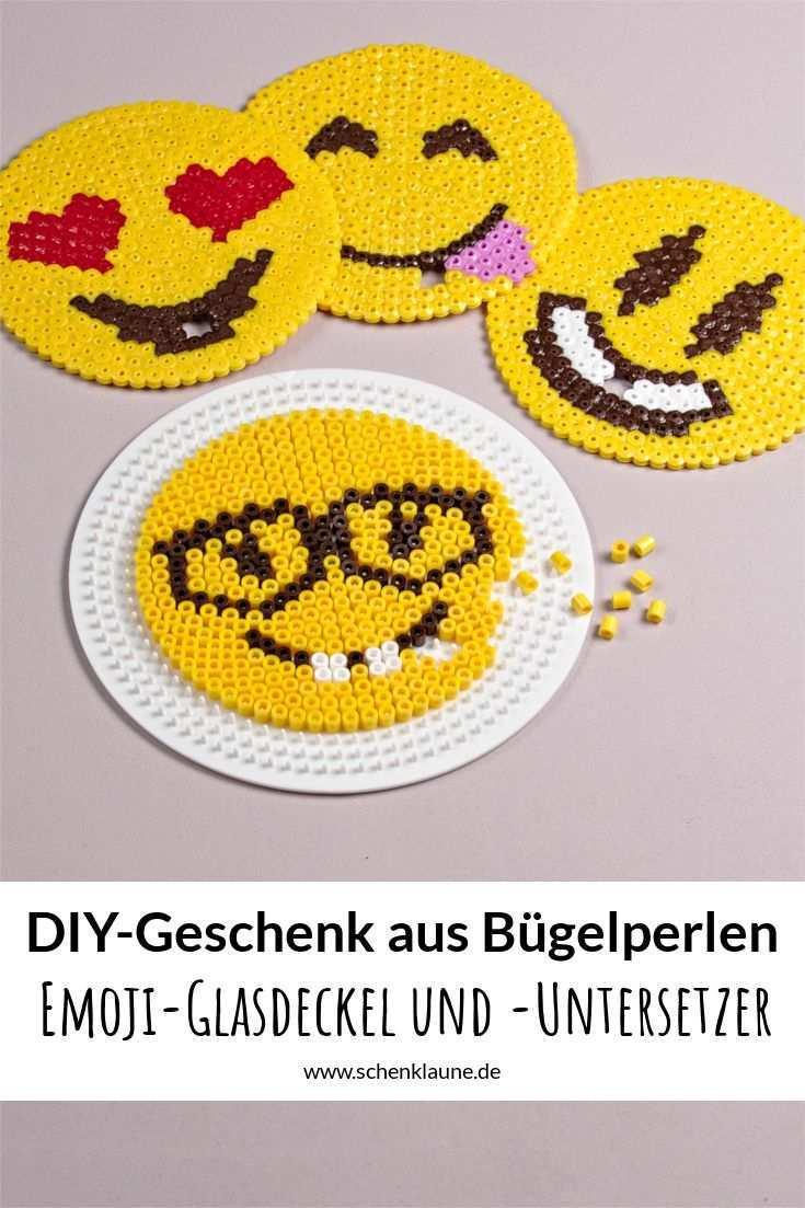 Emoji Glascover Und Untersetzer Diy Mit Bildern Basteln Bugelperlen
