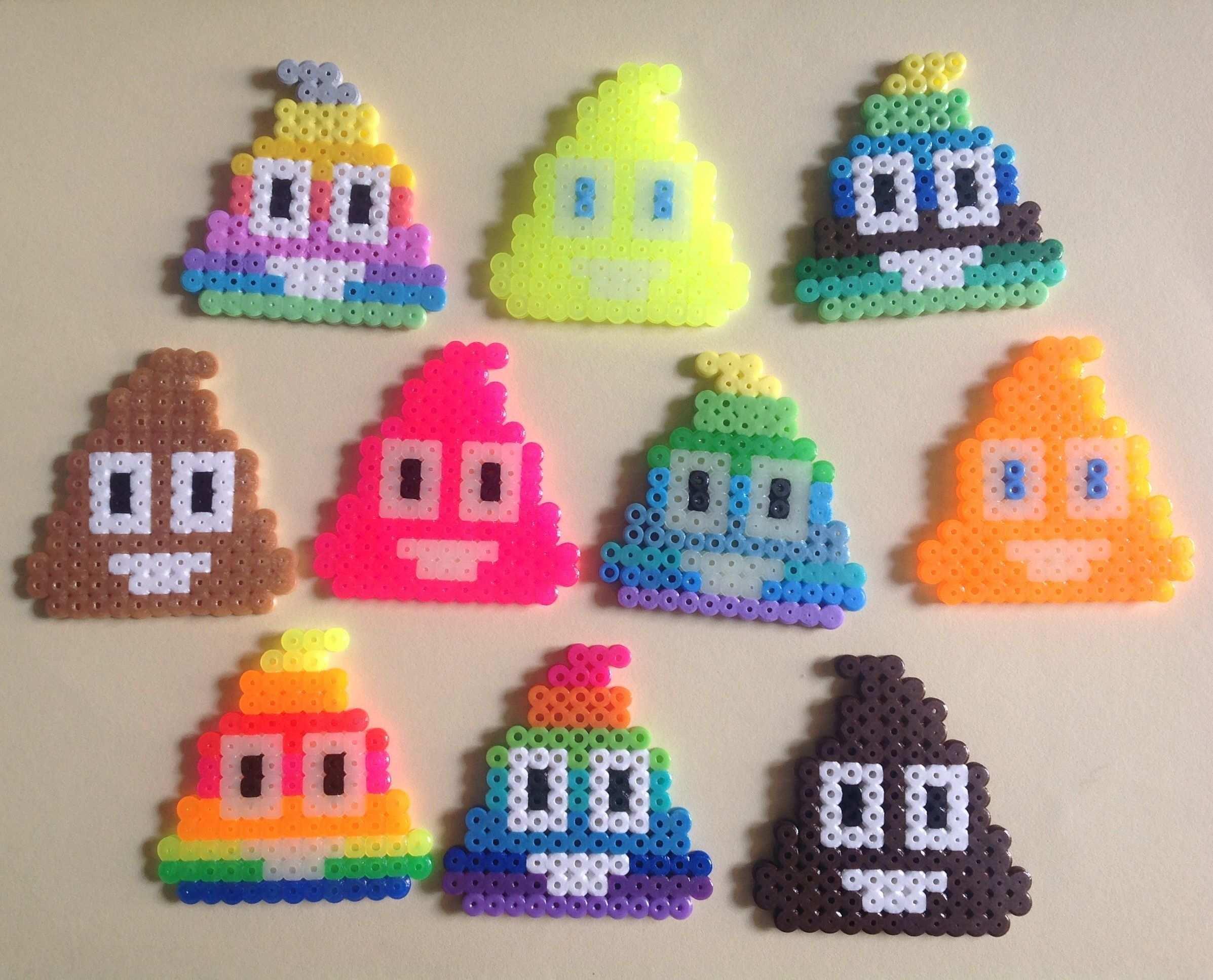 My Emoji Rainbow Hama Beads Pearler Beads Bugelperlen Perler Bead Emoji Hama Beads Patterns Iron Beads