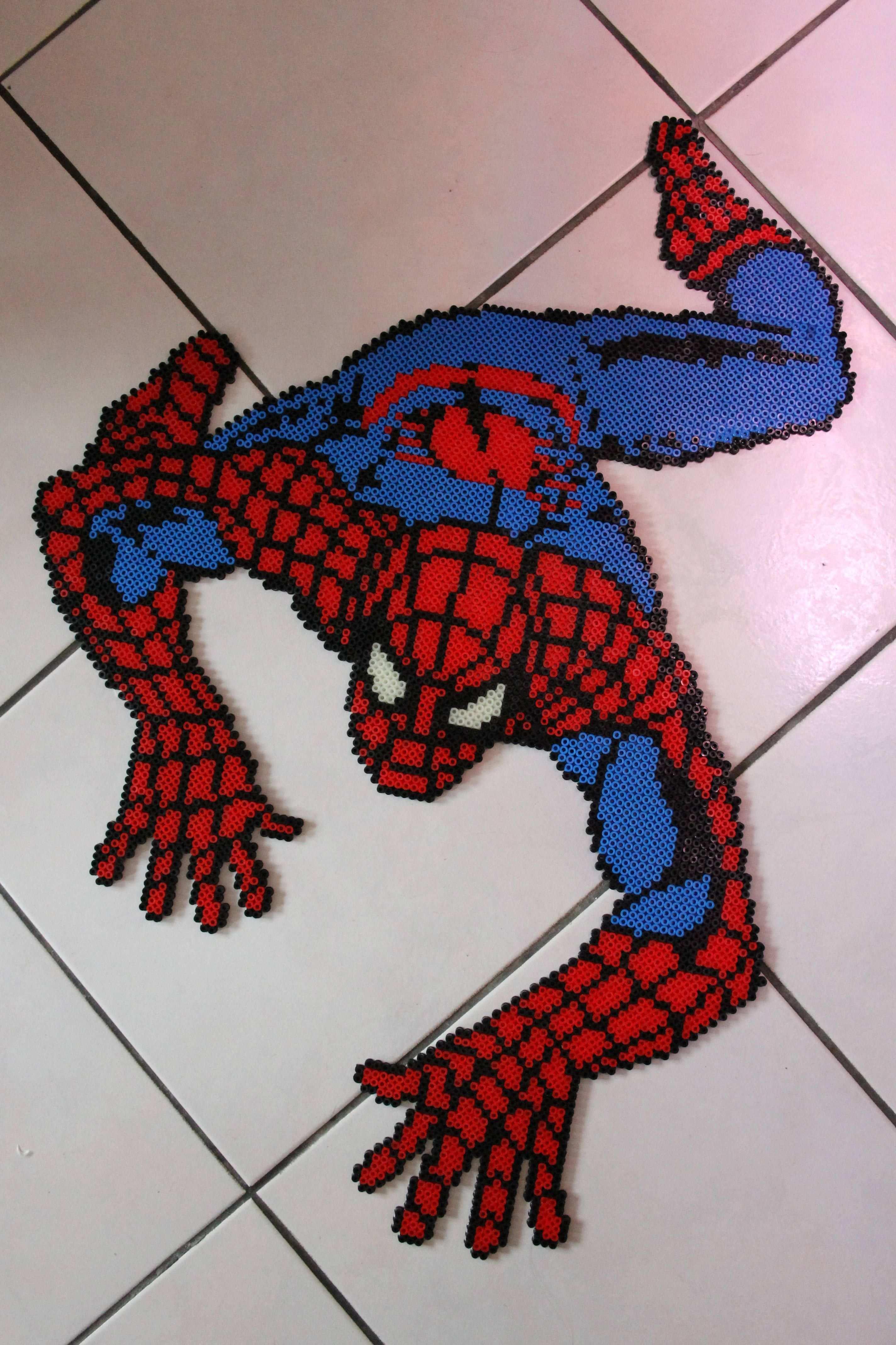 Spiderman Hama Beads Bugelperlen By Camille2008 Bugelperlen Hama Bugelperlen Bugelperlen Muster