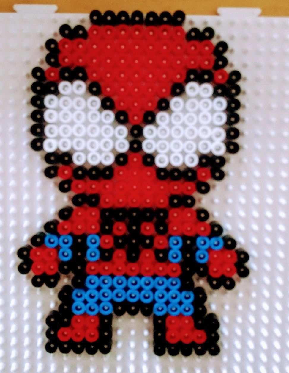 Spiderman Beads Perleshama Hama Beads Design Perler Bead Art Hama Beads Patterns