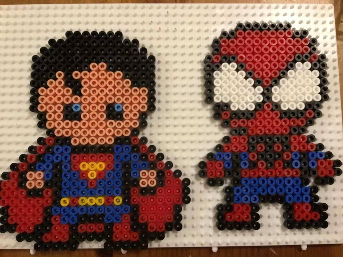 Superman Und Spiderman Bugelperlen Basteln Mit Kindern Basteln