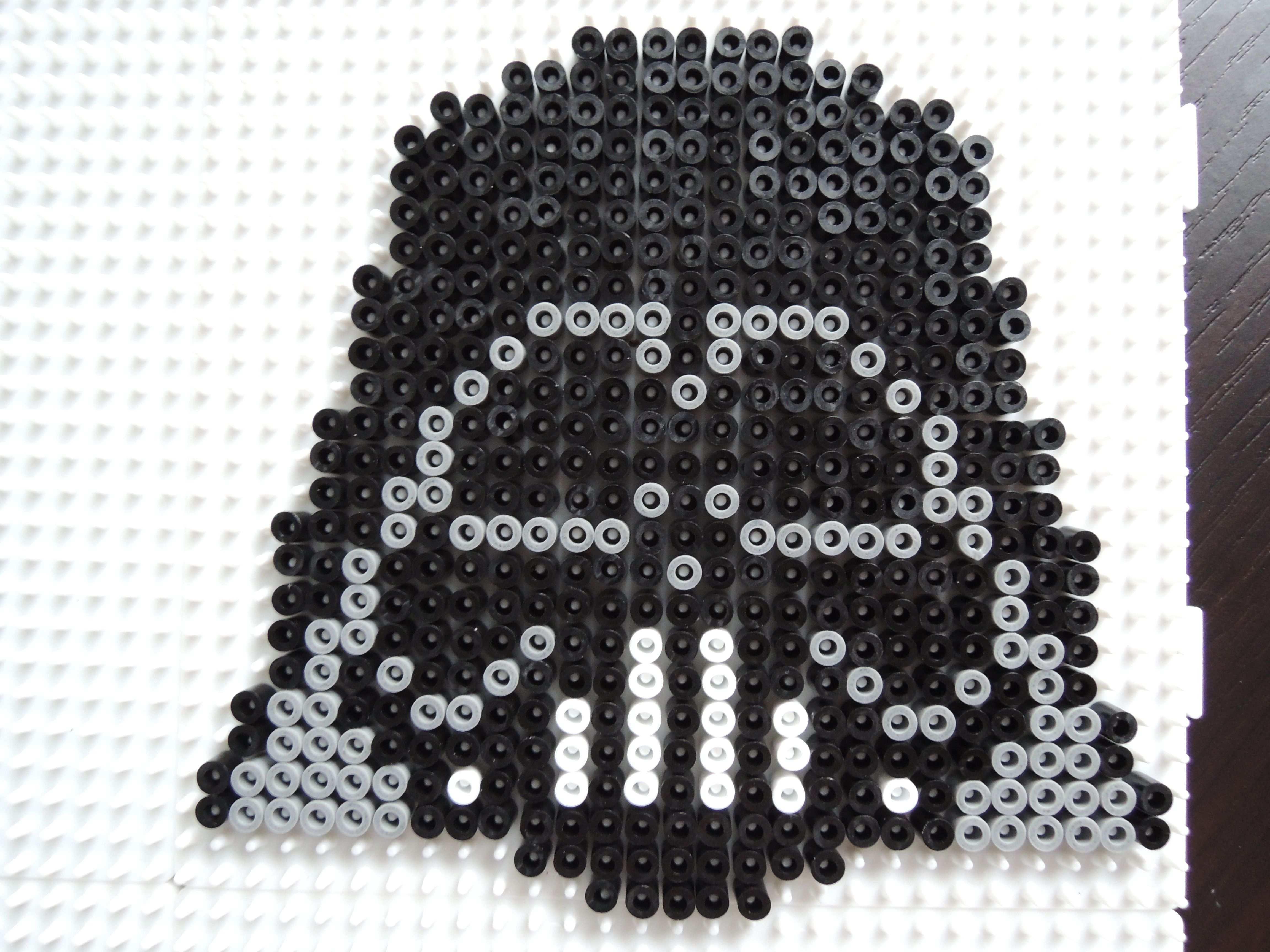 Darth Vader Aus Bugelperlen Perler Beads By Baumberger Entdecker Diy Perler Beads Perler Beads Designs Perler Beads
