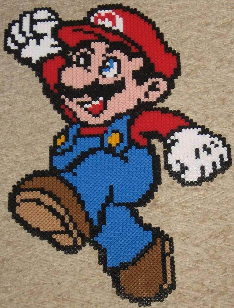 Super Mario Crochet Super Mario Pixel Quilting Mario