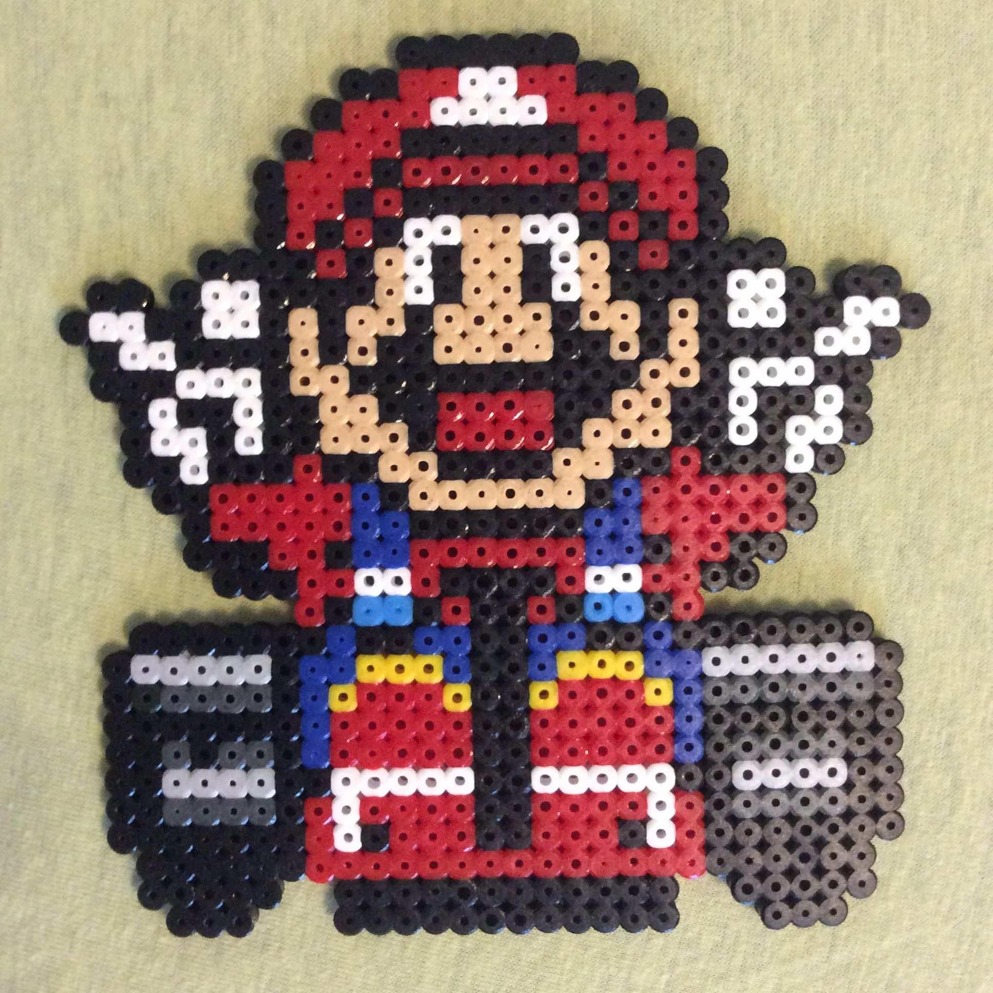 Super Mario Aus Bugelperlen Bugelperlen Ironbeads Perlerbeads Hamabeads Bugelperlen Super Mario Handarbeit