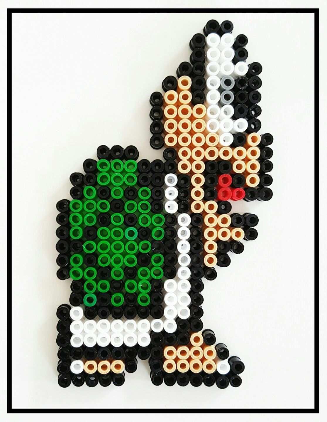 Super Mario Schildkrote Hama Bugelperlen Supermario Basteln Mit Kindern Bugelperlen Basteln