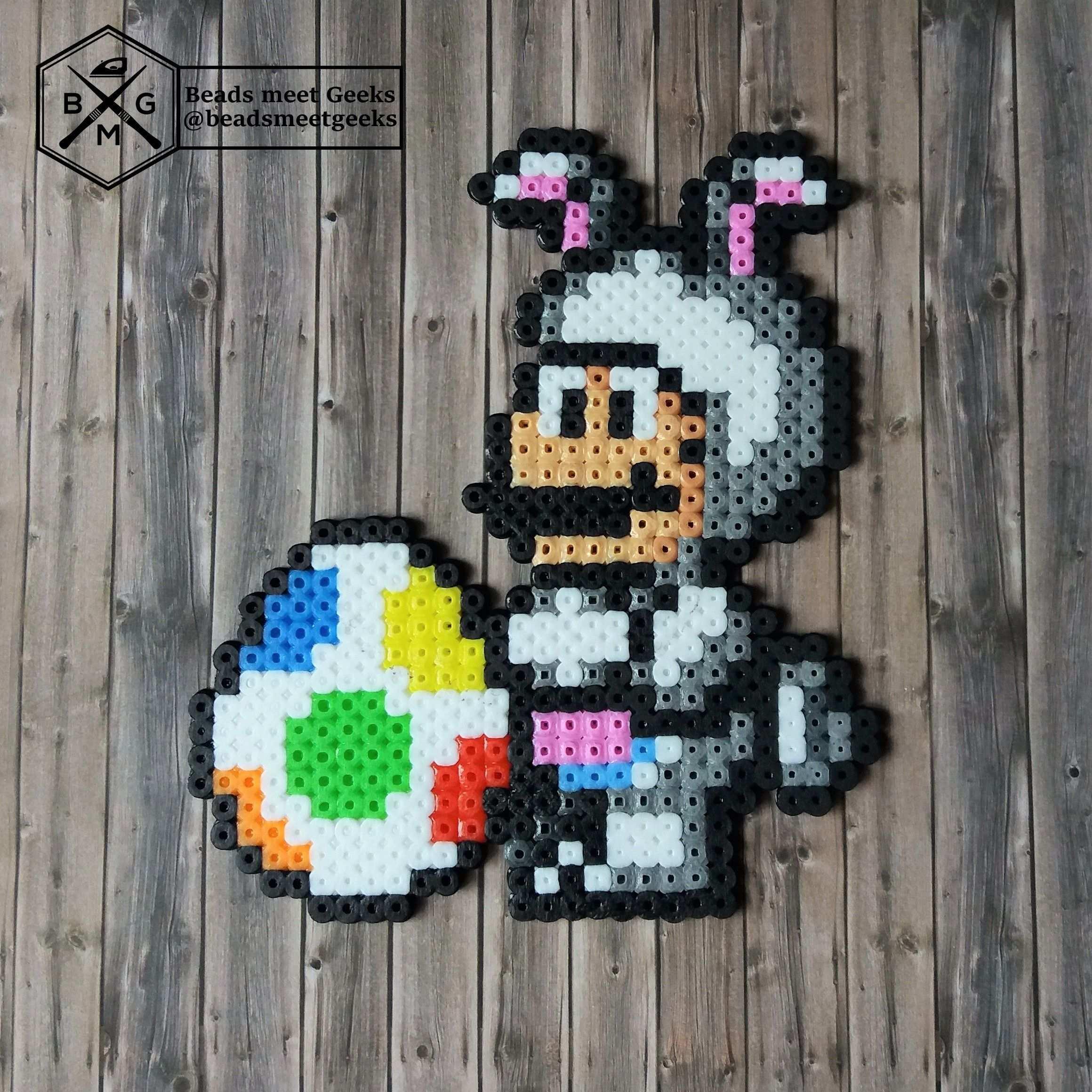 Easter Super Mario With Yoshi Egg Hama Artkal Perler Beads Beadsmeetgeeks Bugelperlen Vorlagen Bugelperlen Muster Perlenmuster