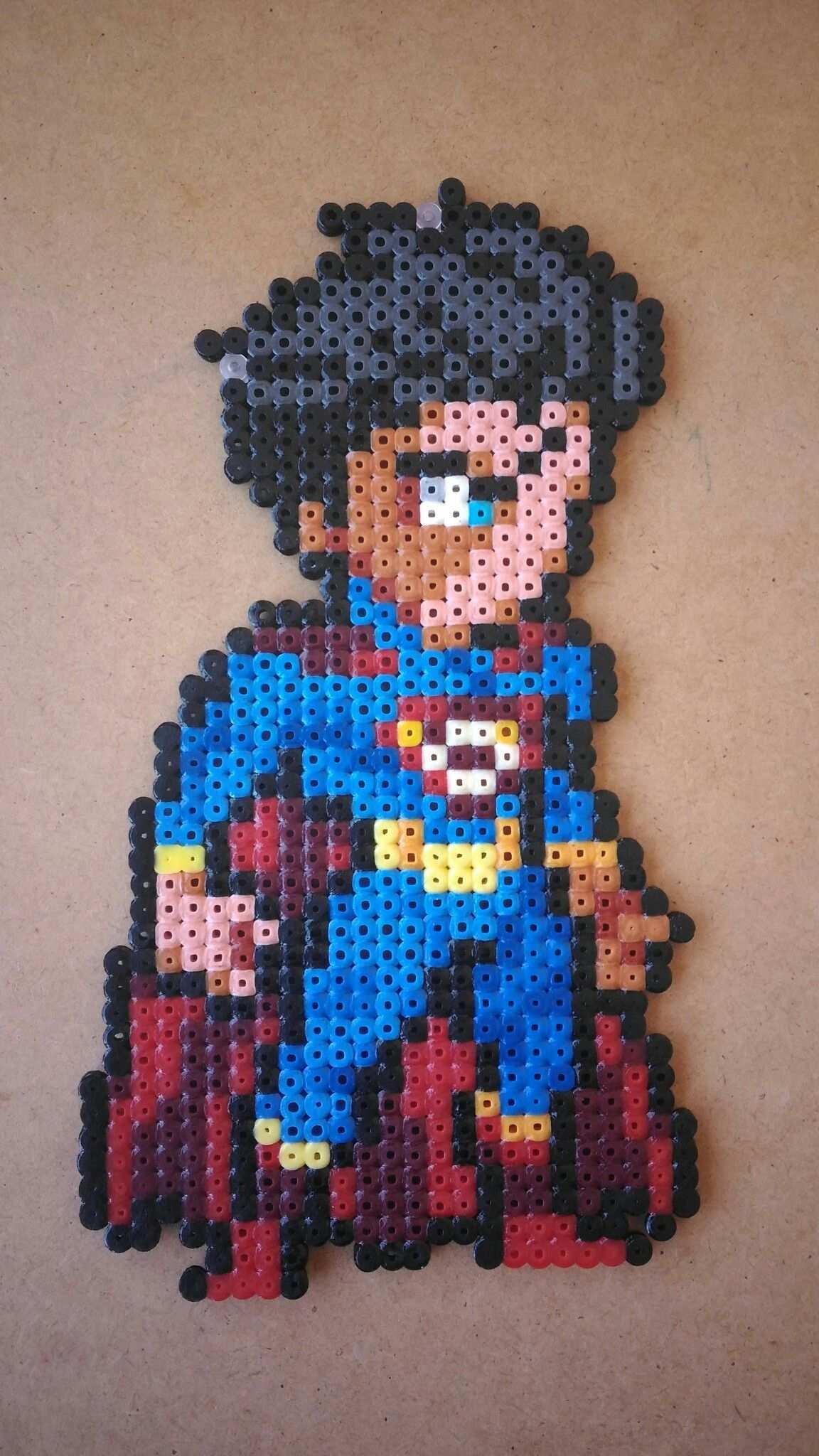 Superman Liga De La Justicia Perler Beads Hama Beads Design Perler Bead Art Pixel Art Grid