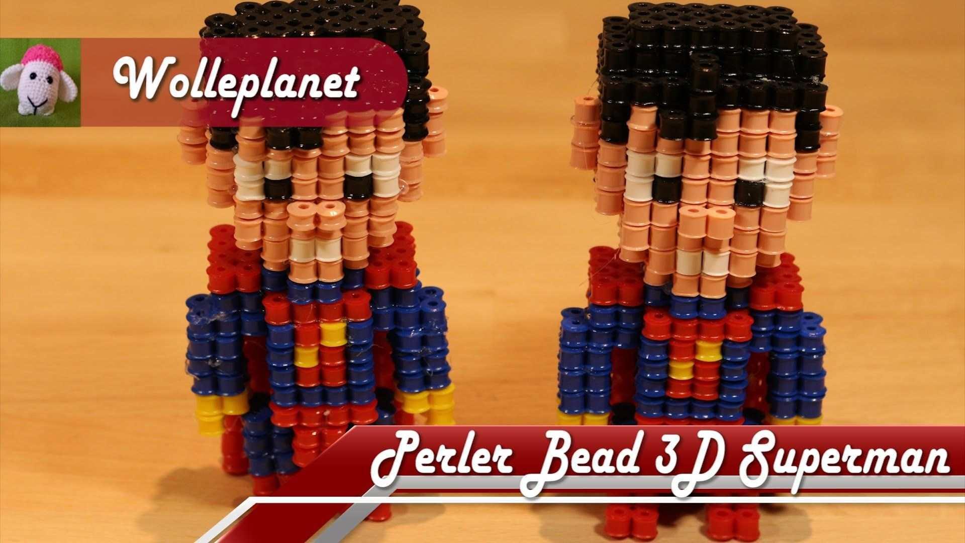 Perler Bead 3d Superman Bugelperlen Perler Bead Designs Superman