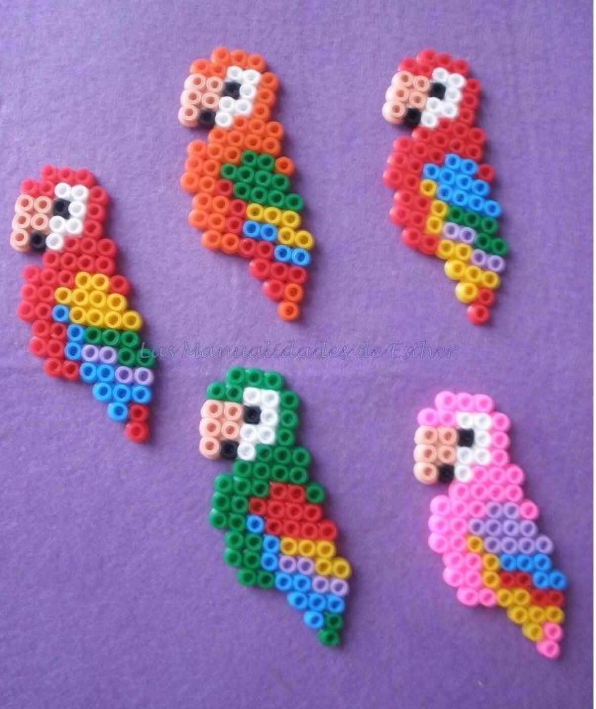 Parrots Eisenperlen Bugelperlen Basteln Bugelperlen