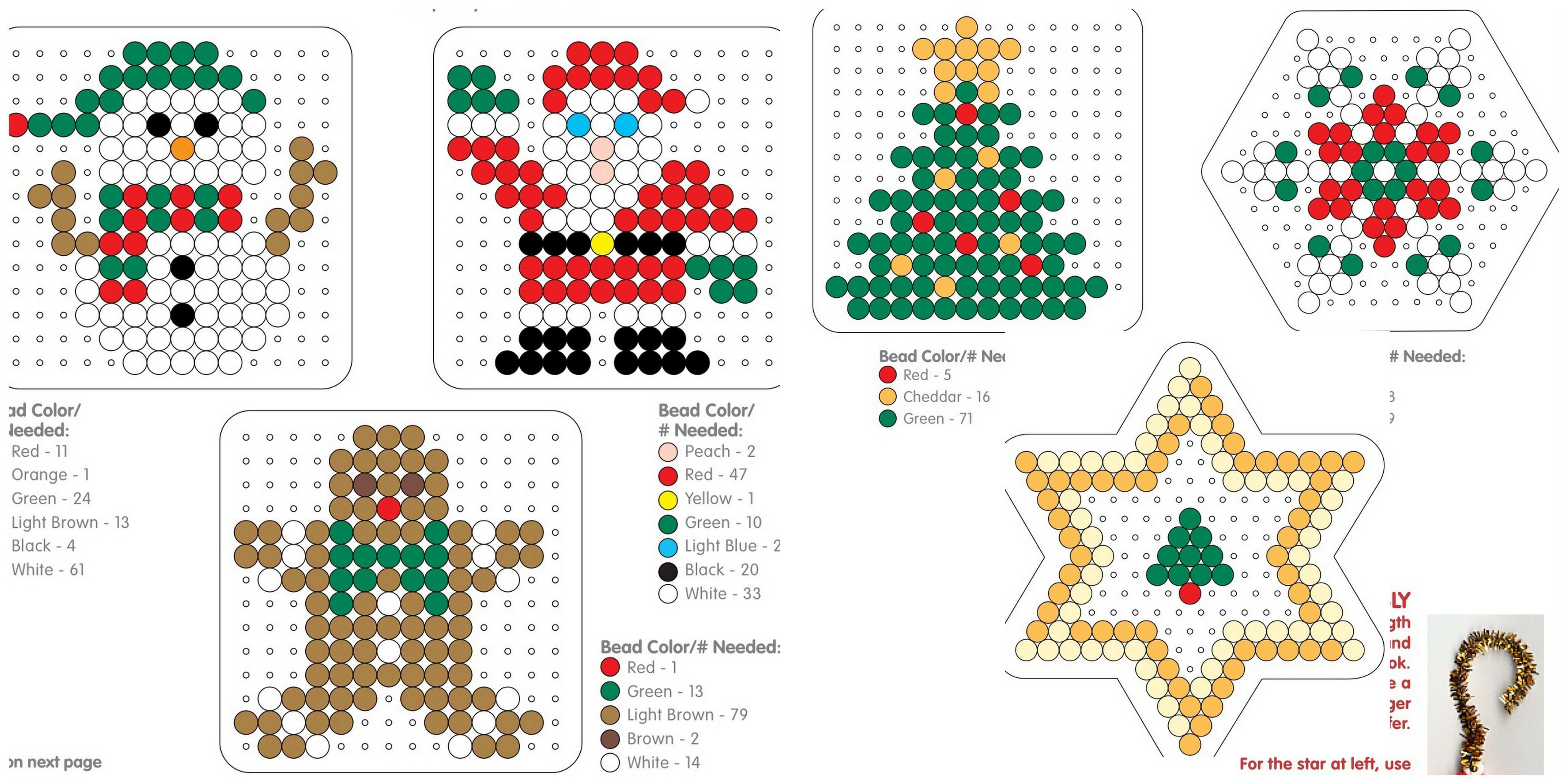 More Christmas Made From Perler Buegelperlen Weihnachten Bugelperlen Bugelperlen Vorlagen