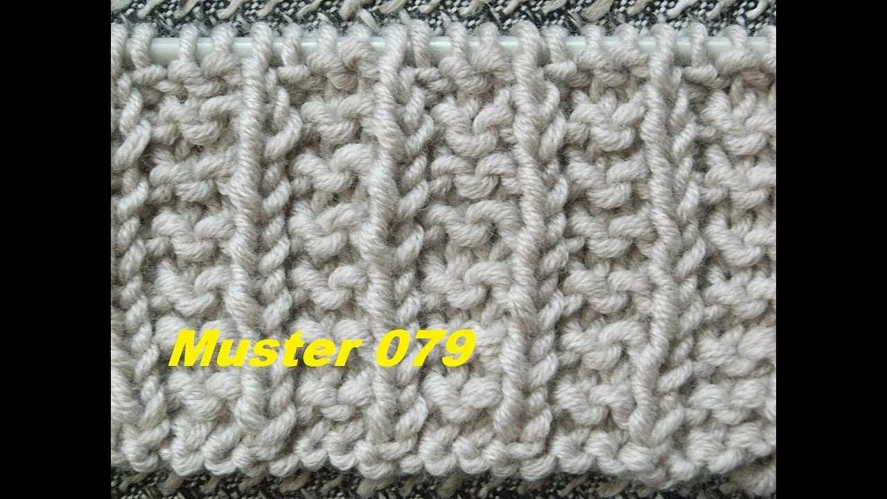 Polniches Bundchenmuster 079 Bundchen Stricken Lernen Muster Fur Pullover Strickjacke Mutze Youtube