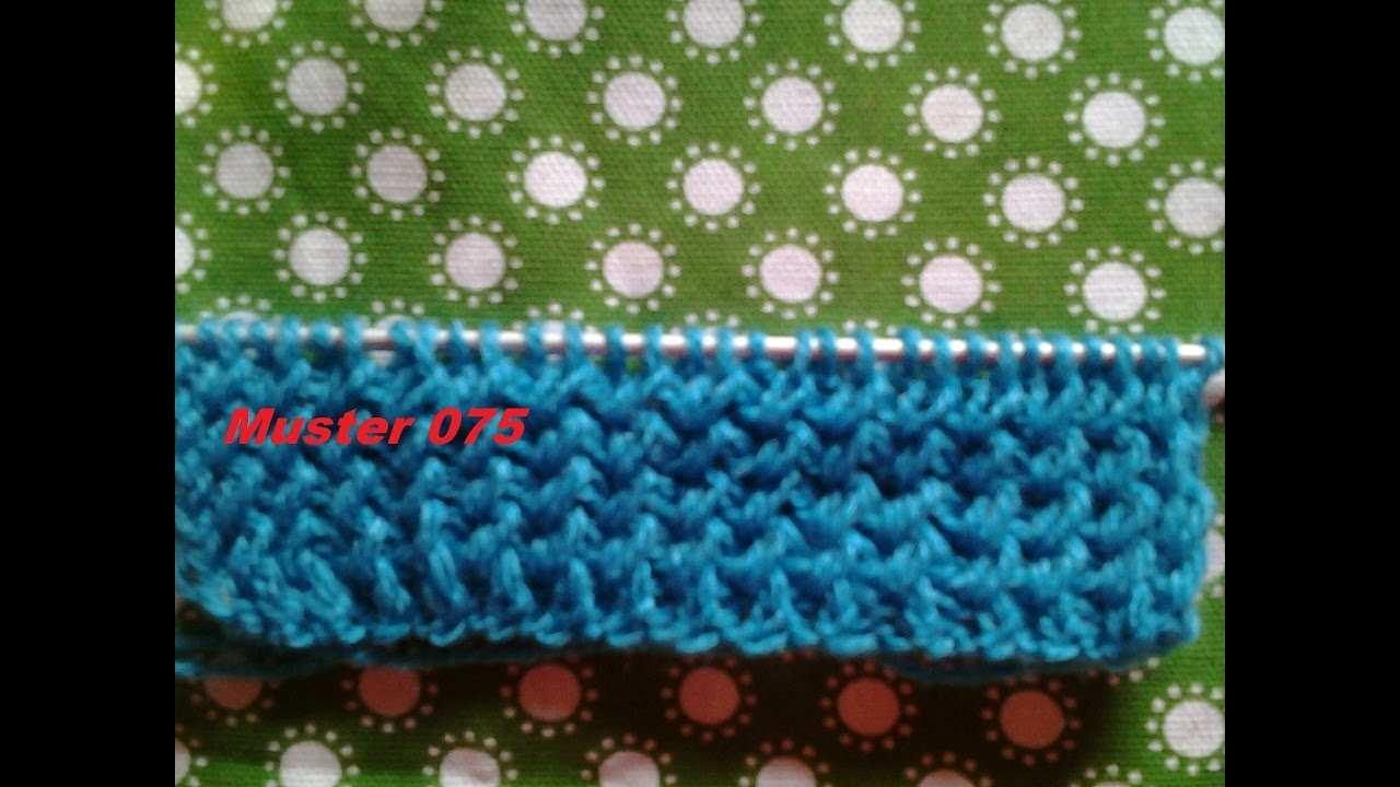 Bundchenmuster Muster 075 Stricken Lernen Muster Fur Pullover Strickjacke Mutze Tutorial Handarbeit Youtube