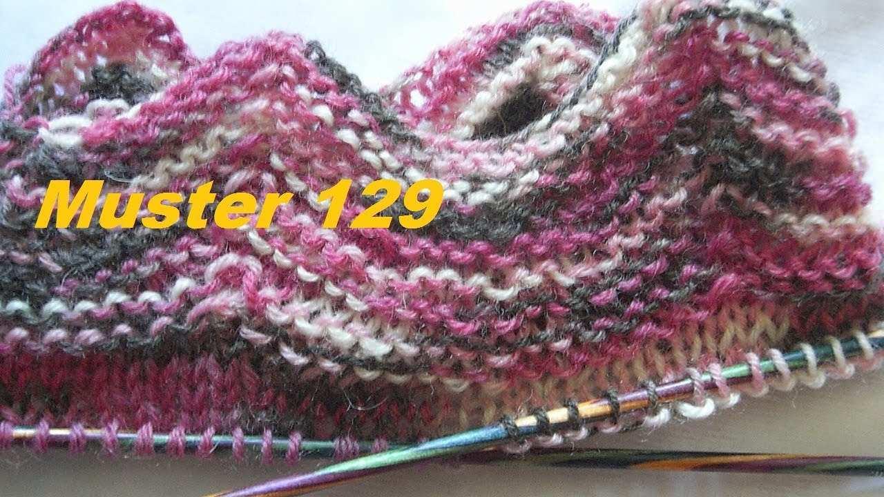 Zickzack Bundchen Muster 129 Fur Socken Handschuhe Stricken Mit Nadelspiel Youtube