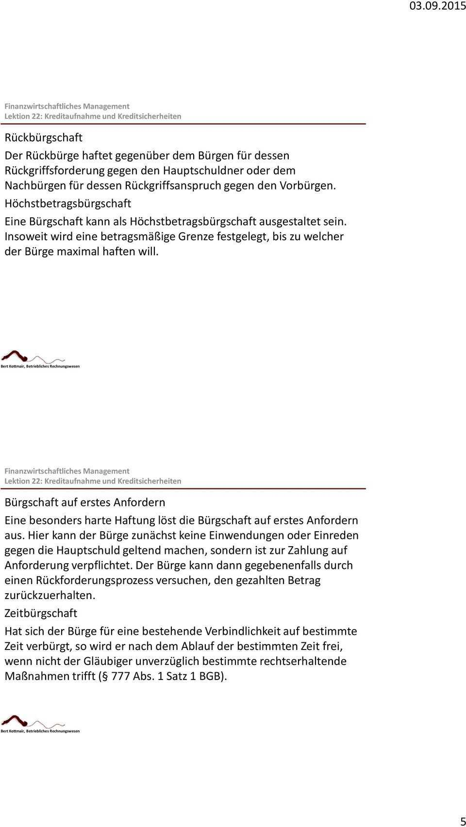 Kreditsicherheiten Pfandrecht An Beweglichen Sachen Und Rechten Garantie Hypothek Grundschuld Realsicherheiten Burgschaft Pdf Kostenfreier Download