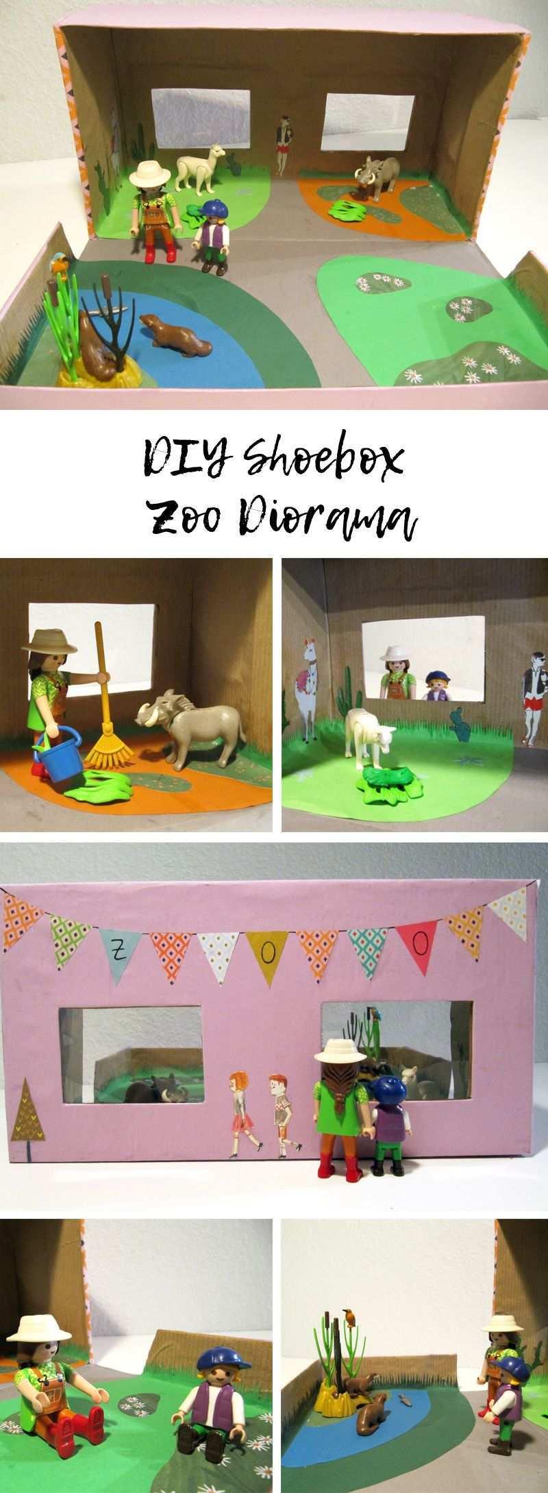 Diy Shoebox Zoo Diorama For Playmobil Toys Paw Patrol Spielzeug Kinder Spielzeug Schaukelpferd Baby