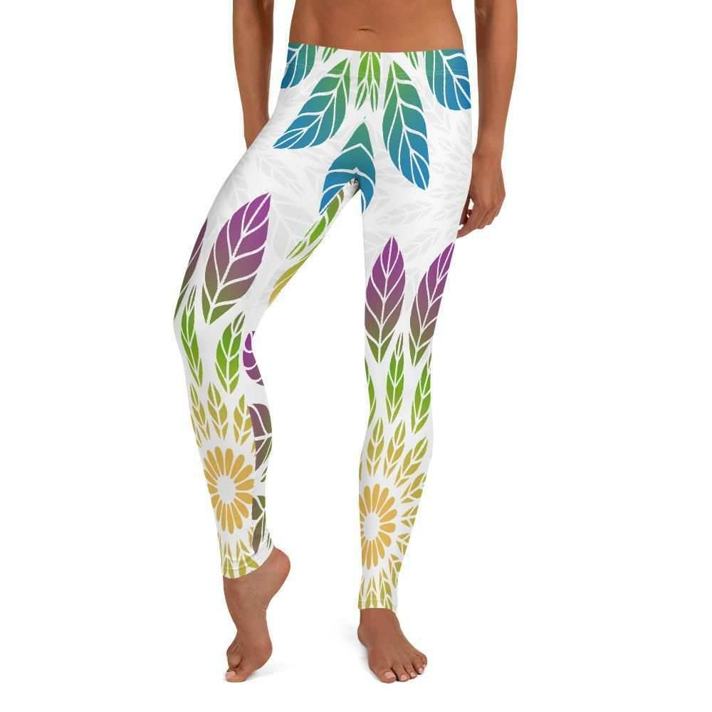 Bunte Blatter Leggings In 2020 Leggings Yoga Leggings Outfit