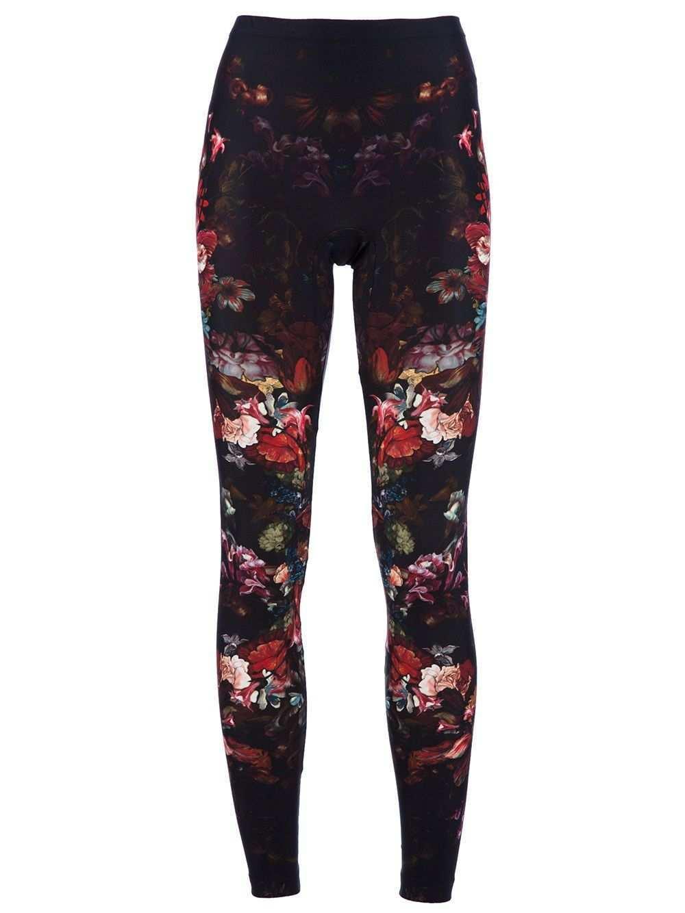 Alexander Mcqueen Floral Print Leggings Ropa Moda Estilo Moda