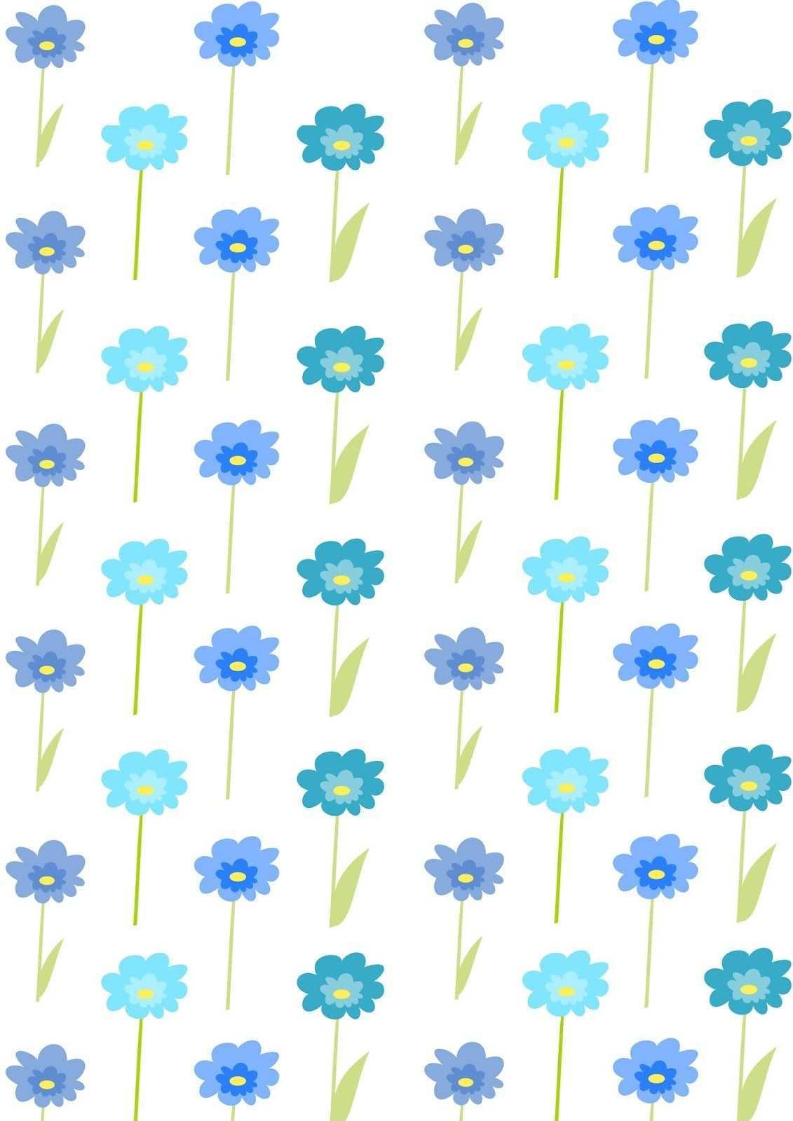 Free Digital Floral Scrapbooking Paper Blue Flowers Ausdruckbares Geschenkpapier Freebie Papier Hintergrund Geschenkpapier Papier Fur Erinnerungsalben