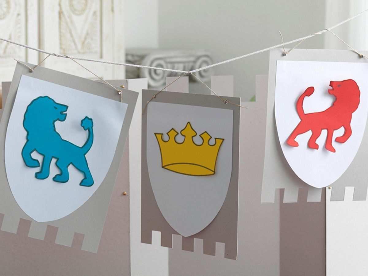 Girlande In Burgenform Kindergeburtstag Ritter Kindergeburtstag Ritter