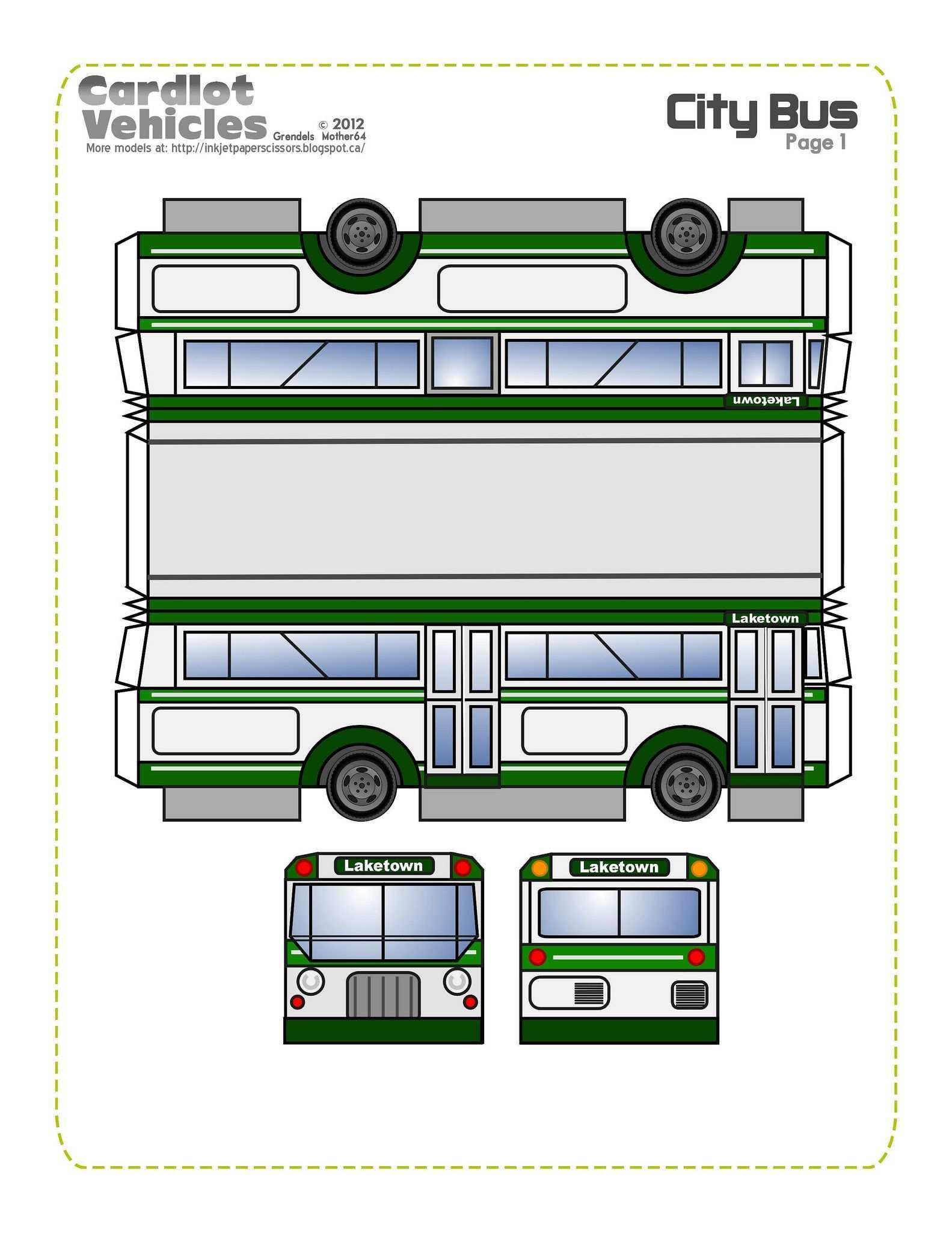 Pin Von Silvazenilda Auf Paper Craft Basteln Mit Papier Basteltipps Bus