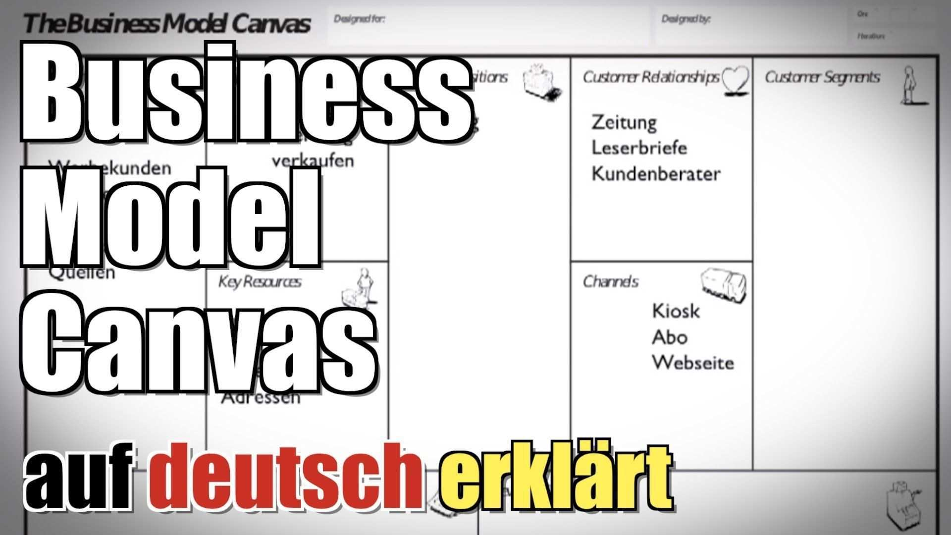 Business Model Canvas Zeitung Auf Deutsch Erklart