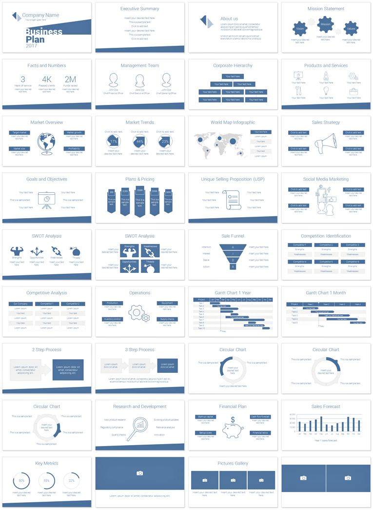 Minimal Business Plan Powerpoint Template Presentationdeck Com Business Plan Layout Business Plan Template Business Planning