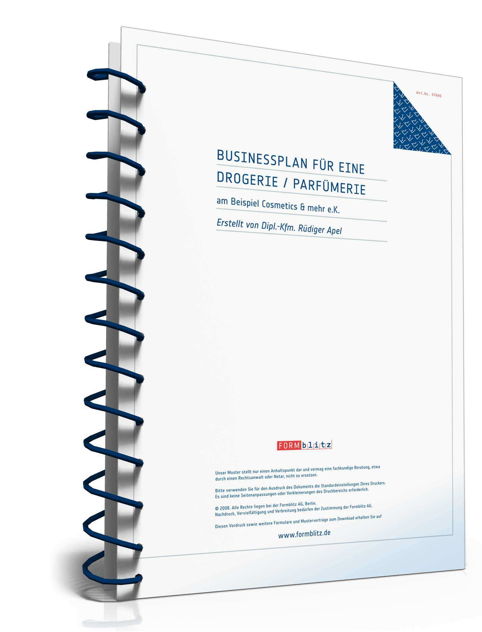 Businessplan Drogerie Parfumerie Muster Zum Download