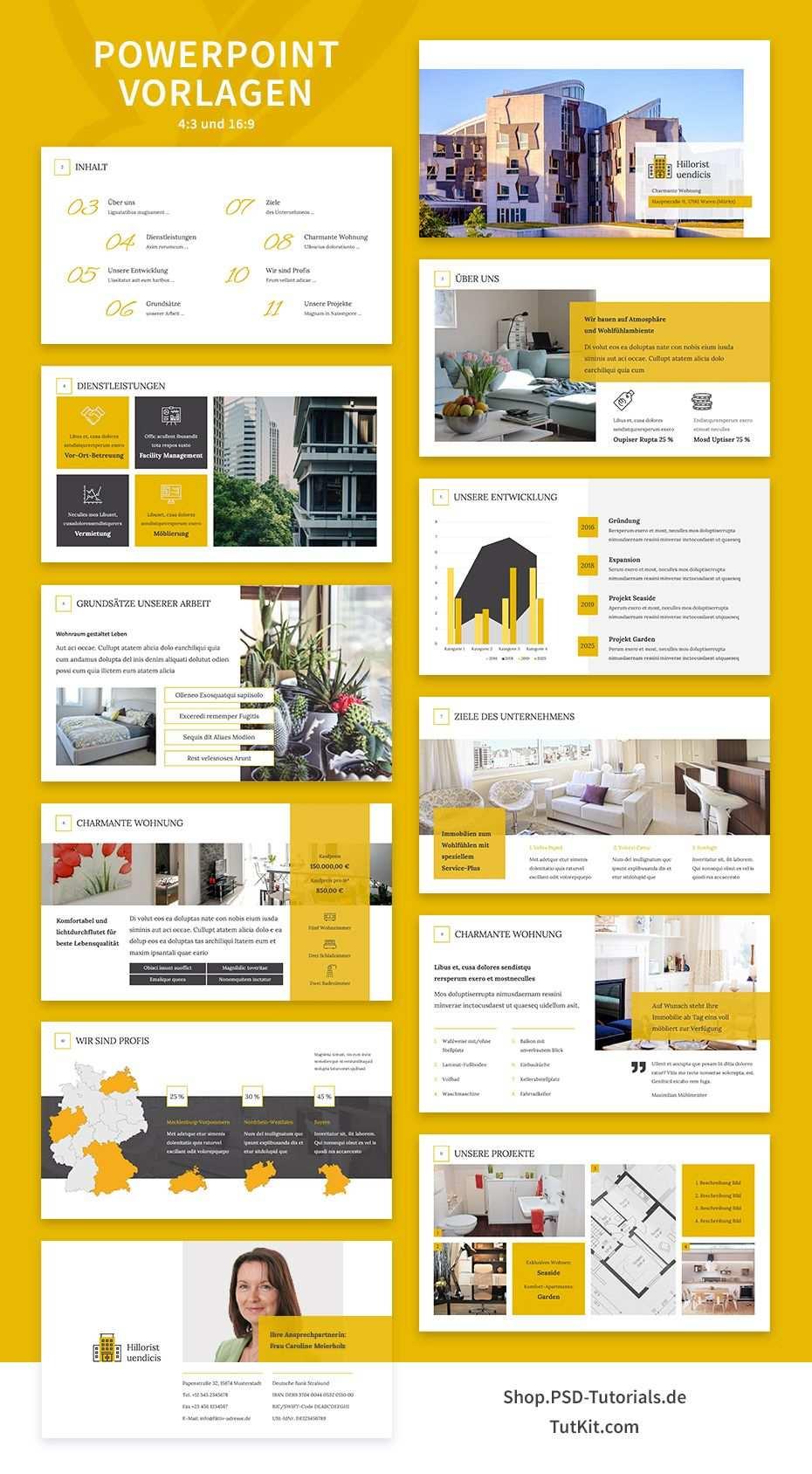 Immobilien Marketing Hochwertige Corporate Design Vorlagen Corporate Design Designvorlagen Expose Immobilien