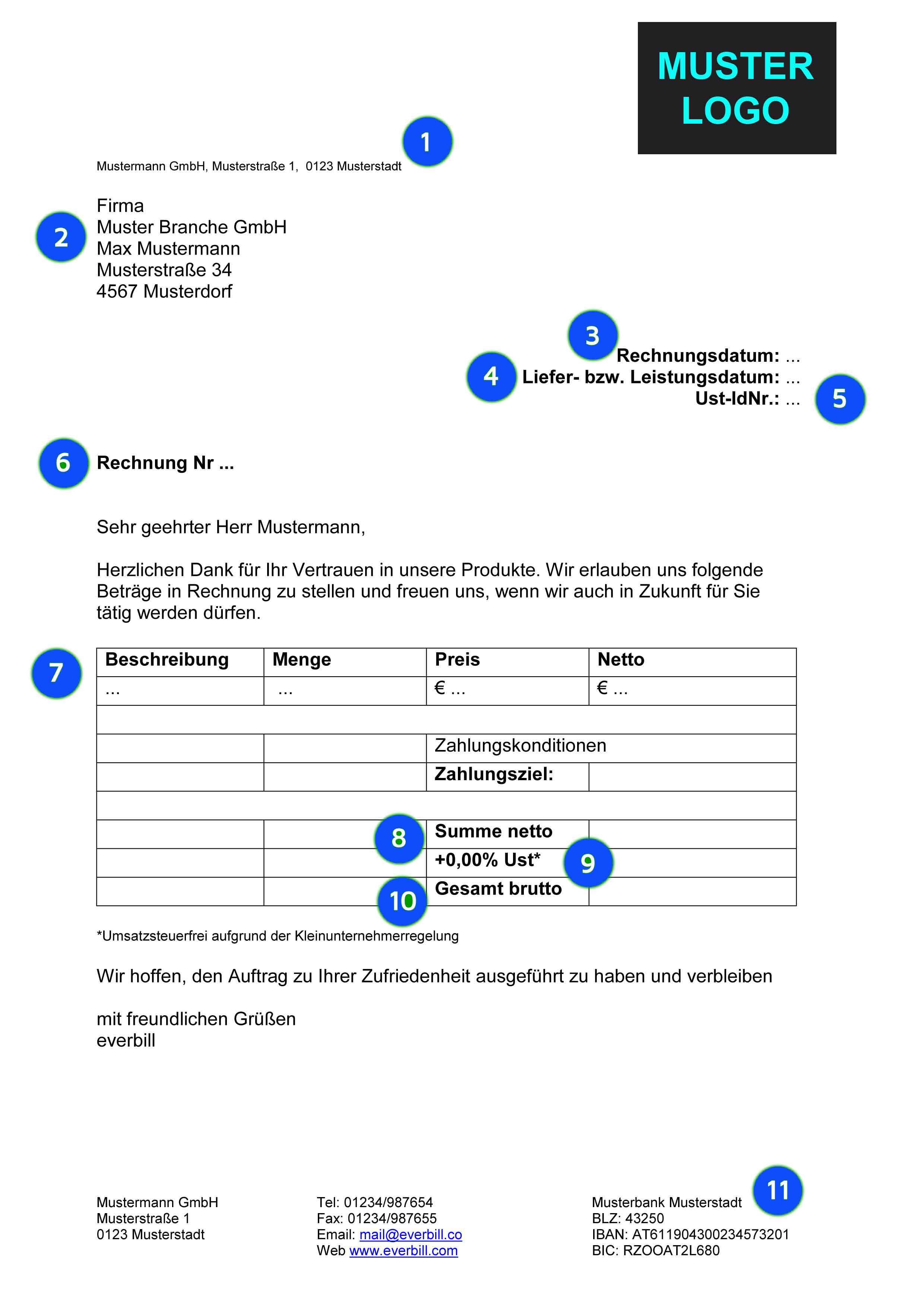 Musterrechnung Handwerk Kostenlos Herunterladen Everbill Magazin