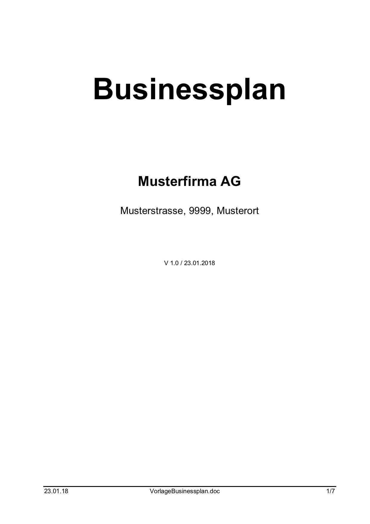 Download Businessplan Vorlage Word Muster Vorlage Ch Businessplan Vorlage Businessplan Vorlagen Word